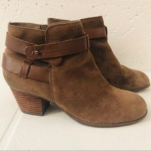 Dolce Vita Brown Suede Round-Toe Ankle Boots